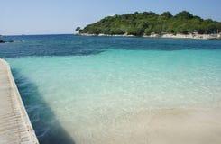 Playas asombrosas de Ksamil, Albania Foto de archivo