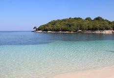 Playas asombrosas de Ksamil, Albania Imagenes de archivo