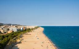 Playas, costa en Calella cataluña españa Imagen de archivo libre de regalías