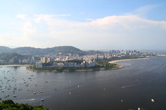 Playas de Botafogo y de Flamengo - Rio de Janeiro Foto de archivo libre de regalías