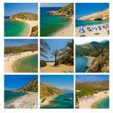 Playas de Crete Imágenes de archivo libres de regalías