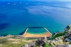 Playas de Gibraltar Imágenes de archivo libres de regalías
