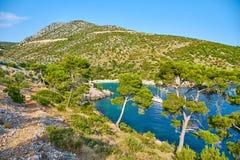 Playas de Hvar, Croacia imagenes de archivo