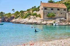 Playas de Hvar, Croacia fotografía de archivo libre de regalías