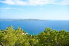Playas de Hvar, Croacia imagen de archivo