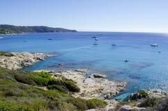 Playas de riviera francesa, cerca a St Tropez Imagen de archivo libre de regalías