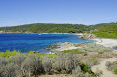 Playas de riviera francesa, cerca a St Tropez Imagenes de archivo