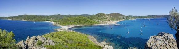 Playas de riviera francesa, cerca a St Tropez Foto de archivo libre de regalías
