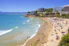 Playas de Salou, España imagen de archivo