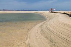 Playas de Sotavento,费埃特文图拉岛,社论 库存照片