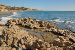 Playas del este de Málaga fotografía de archivo