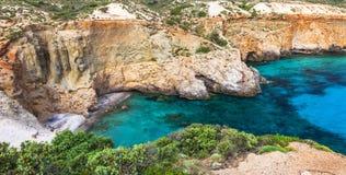 Playas hermosas de Grecia imagen de archivo