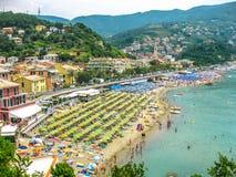 Playas italianas populares Imágenes de archivo libres de regalías