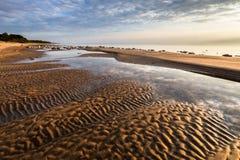 Playas rasgadas de la arena Imágenes de archivo libres de regalías