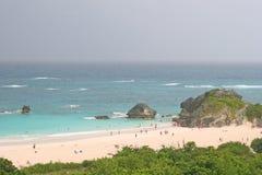 Playas rosadas de la arena Imágenes de archivo libres de regalías