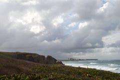 Playas tempestuosas Fotografía de archivo libre de regalías