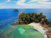 Playas tropicales en Panamá, el mejor lugar a relajarse imagen de archivo