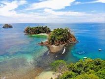 Playas tropicales en Panamá, el mejor lugar a relajarse Imágenes de archivo libres de regalías
