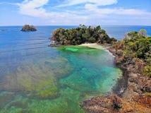 Playas tropicales en Panamá, el mejor lugar a relajarse Fotos de archivo
