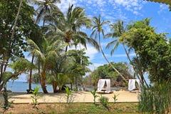 Playas tropicales en Panamá, el mejor lugar a relajarse fotos de archivo libres de regalías
