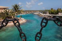 Playas y centros turísticos de Curaçao Fotografía de archivo libre de regalías