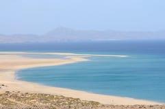 playasotavento spain för de fuerteventura Royaltyfri Foto