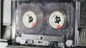 Playback del registratore di cassetta audio stock footage