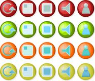 Playback icons 02 Stock Photo