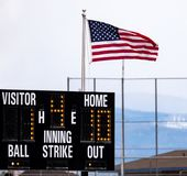 Playball, the Umpire Bellows Out to the Teams royalty free stock photo