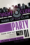 Playbill for the musical party in night club Royalty Free Stock Photos