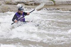 Playboat dans le chemin de fleuve - espoir gauche, 31 mars 2012 Photographie stock libre de droits