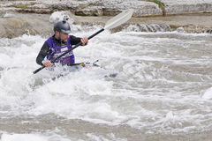 Playboat im Fluss-Rennen - Porthoffnung, 31. März 2012 Lizenzfreie Stockfotografie