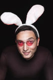 Playboy with bunny ears Stock Image