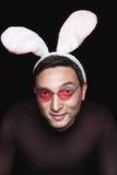 Playboy with bunny ears Stock Image