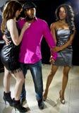 Playboy am Nachtklub stockbild