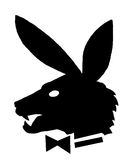 Playboy,a sence of humor. A gentry wolf with bunny ears Stock Photos