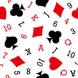 Playcard icons seamless background. Stock Images