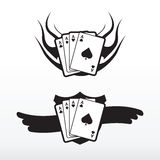 Playcard tattoo. Poker cards vector tattoo / tribal Royalty Free Stock Photography