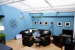 @The Playce da sala de estar da claraboia, PlayStation 4 foto de stock royalty free