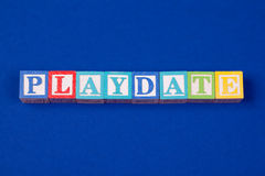 Playdate blocks Stock Image