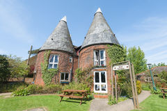 Playden Oasts Hotel. Rye, East Sussex, UK - April 16, 2014: The unusual Playden Oasts Hotel, near Rye, East Sussex, UK. Originally built to dry hops for the Stock Photography