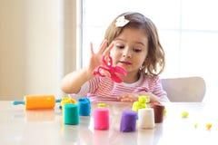 playdough игры стоковое изображение rf