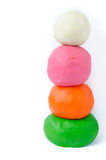 Playdough balls on white Stock Photography