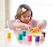 Playdough game Stock Image