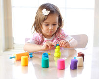 Playdough game Stock Image