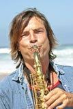 playe επαγγελματικό saxophone Στοκ Εικόνες