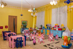 Playe area in kindergarden Royalty Free Stock Image