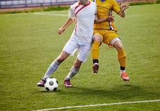 Playe do futebol Foto de Stock Royalty Free