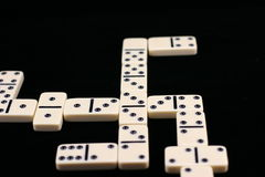 Played dominoes. Stock Image