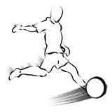 He played the shot with consummate skill. Calligraphy Arts Desig Royalty Free Stock Images